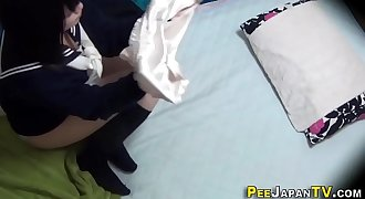 Urinating japanese teen