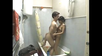 Youthful Teen Unexperienced Couple Awesome Bathroom Fuck