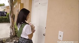 FuckingAwesome - Scout Girl Megan Rain Gets Her Pouch Fucked