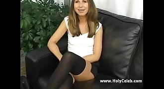 Teenager in stockings loves ass fucking and cum